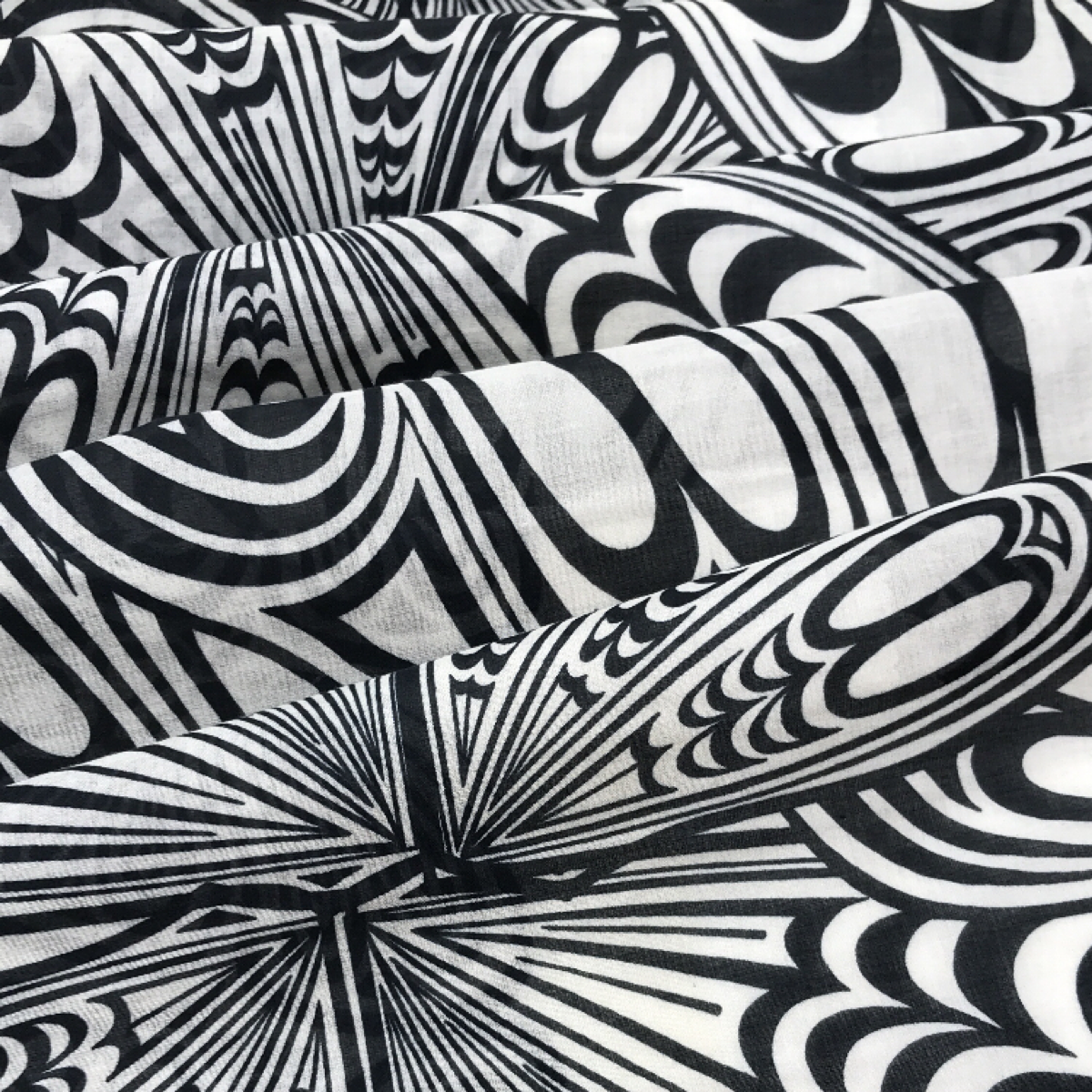 Black and White Printed Textile by Beach & Body by Clerici Tessuto