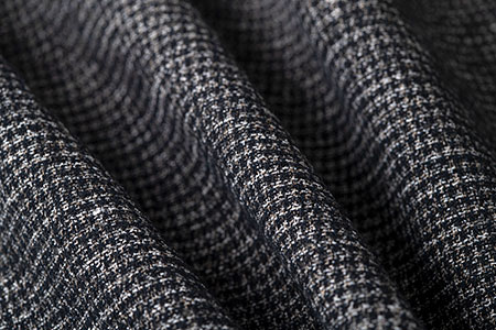 Black and White Woven Textile by LARUSMIANI by Clerici Tessuto